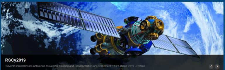 Παρουσίαση εργασιών του έργου στο 7ο Διεθνές Συνέδριο Τηλεπισκόπησης και Γεωπληροφορικής στο Περιβάλλον, Πάφος, Κύπρος
