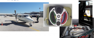Airplane with lidar