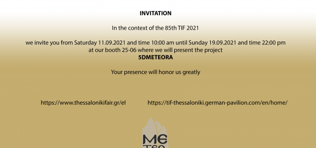 Presentation of 5dMETEORA project in 85th TIF